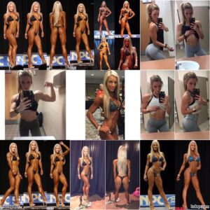 perfect female bodybuilder with fitness body and toned bottom repost from linkedin