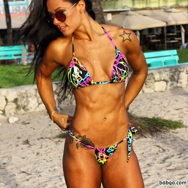 hot woman with fitness body and toned legs repost from flickr