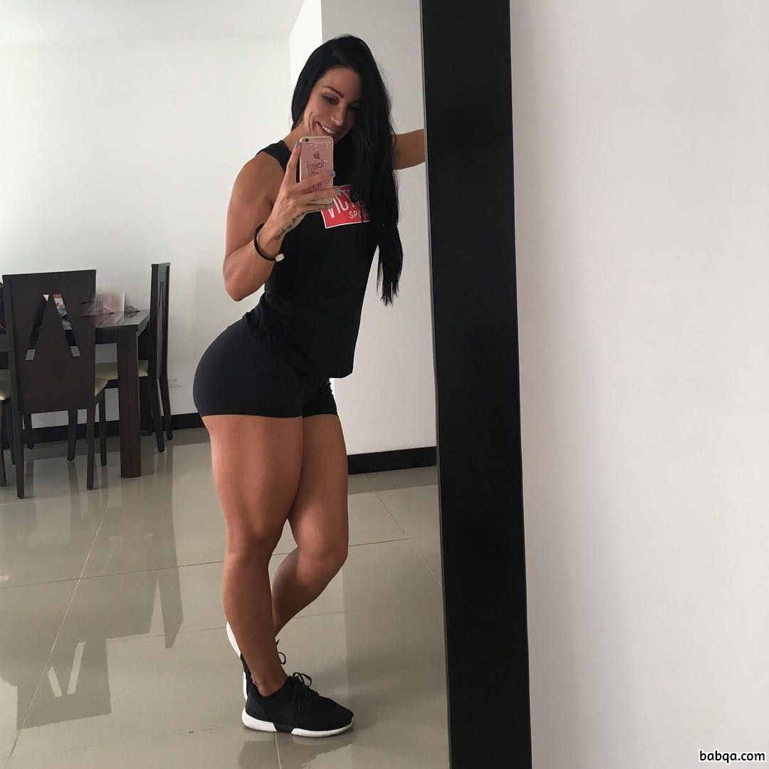 cute lady with muscle body and muscle ass post from reddit