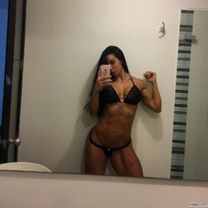 cute female bodybuilder with fitness body and toned ass post from tumblr