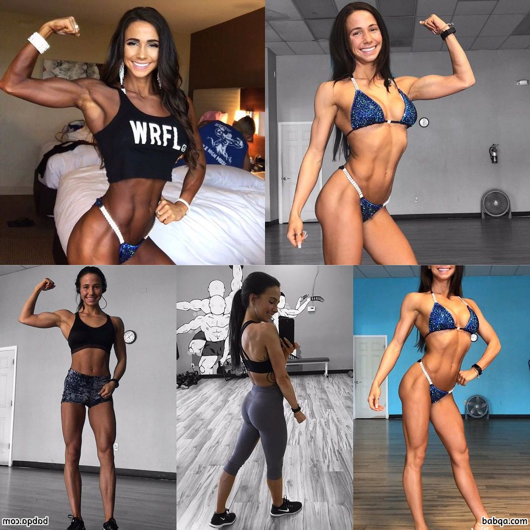 awesome woman with muscular body and muscle arms pic from g+