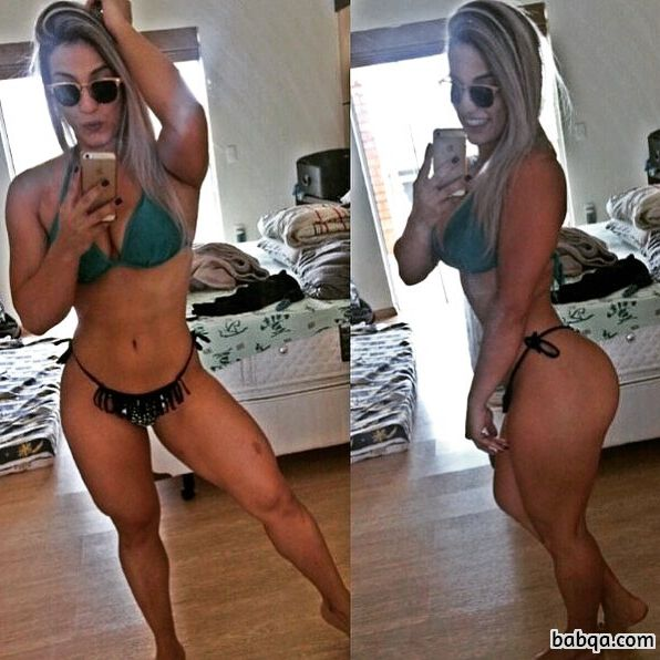 perfect woman with strong body and toned ass picture from insta