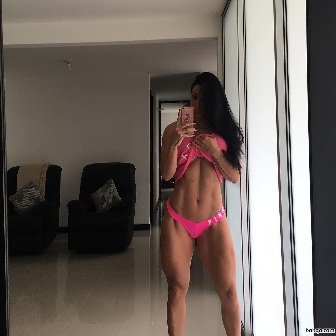awesome chick with muscular body and toned bottom picture from facebook