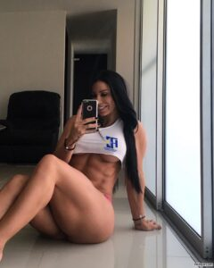 awesome woman with muscular body and muscle legs photo from reddit