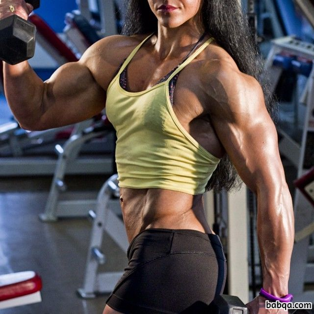 beautiful woman with fitness body and muscle legs picture from linkedin