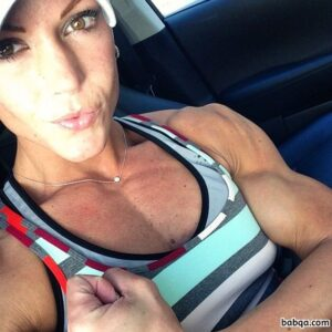 awesome female bodybuilder with muscle body and muscle arms picture from instagram