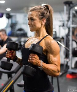 cute babe with muscular body and muscle biceps picture from reddit