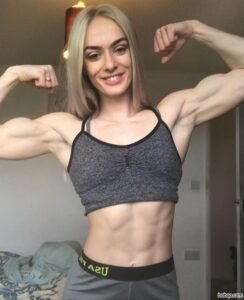 hot woman with muscle body and toned biceps pic from tumblr