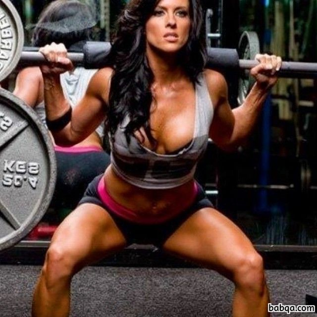 beautiful female bodybuilder with strong body and muscle legs repost from tumblr