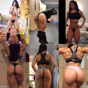 hot female bodybuilder with fitness body and toned legs photo from reddit