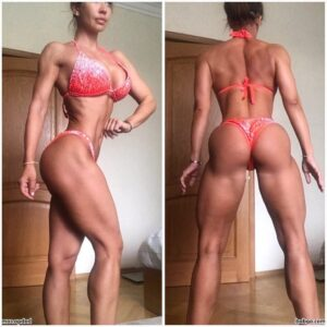 beautiful girl with muscle body and muscle biceps picture from reddit