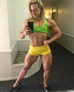 perfect chick with muscle body and muscle booty photo from linkedin