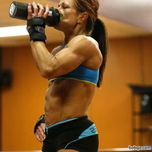 hot female bodybuilder with strong body and muscle biceps repost from insta