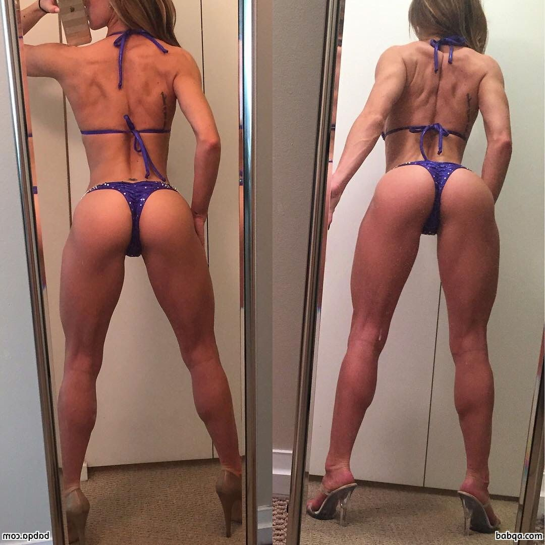 beautiful lady with muscle body and toned ass image from linkedin