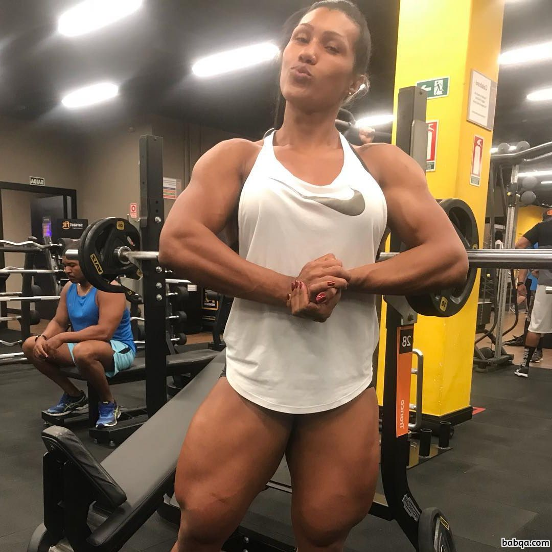 sexy babe with muscular body and muscle arms pic from linkedin