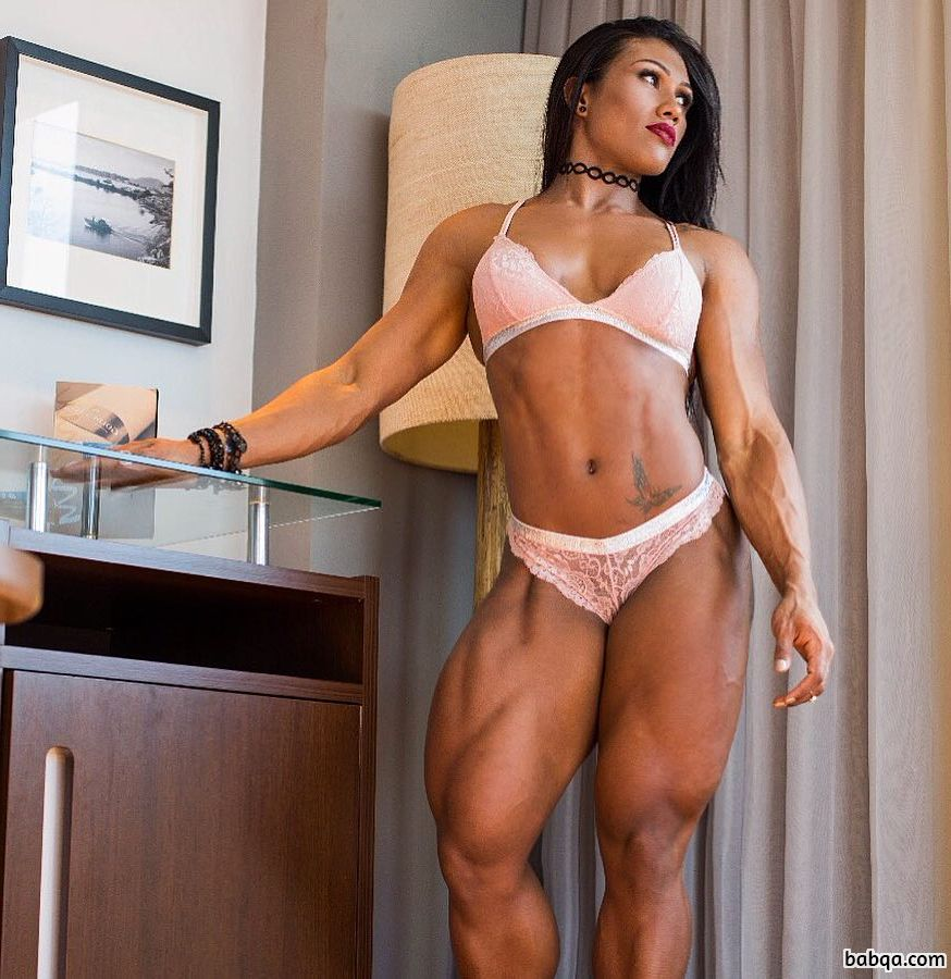 awesome female with muscular body and muscle bottom picture from insta