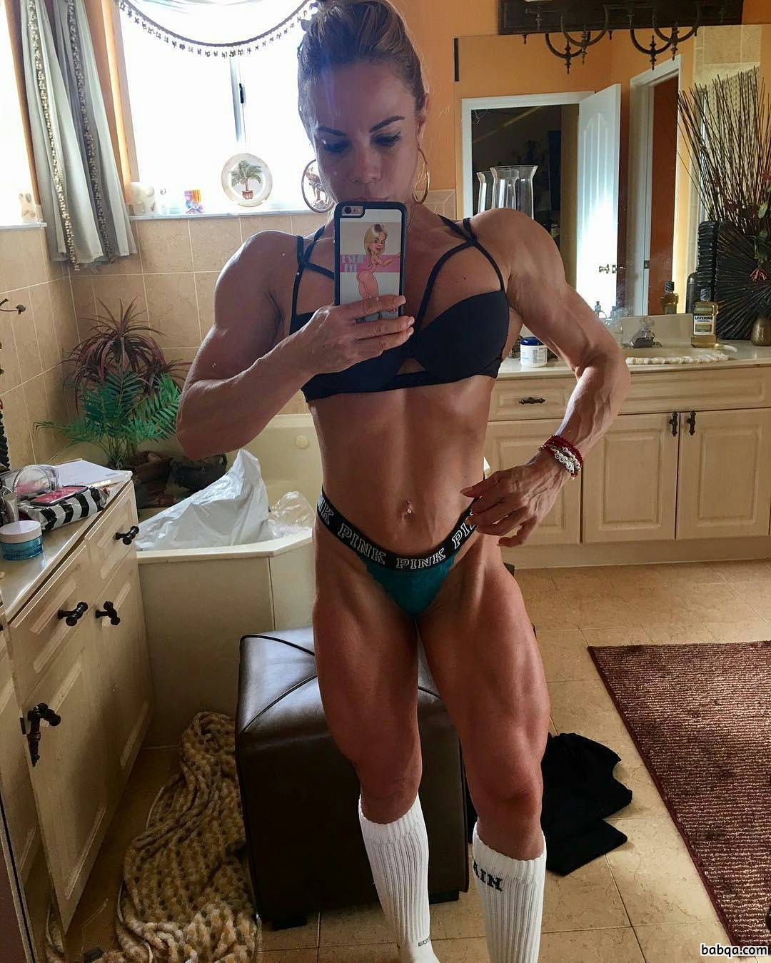 perfect female with muscle body and muscle ass image from tumblr