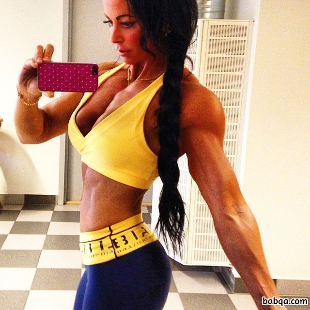 awesome female bodybuilder with fitness body and muscle booty repost from insta