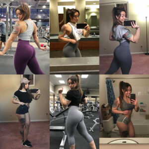 hot female with strong body and muscle legs picture from linkedin