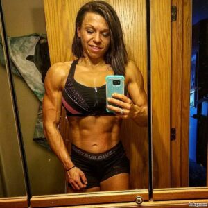 hottest female bodybuilder with fitness body and toned legs pic from instagram