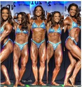 perfect female with fitness body and muscle bottom pic from facebook