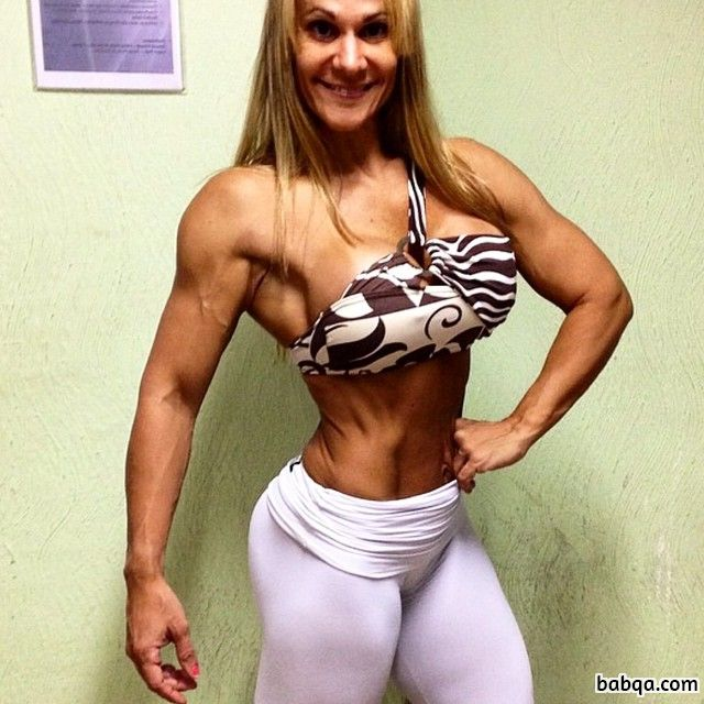 awesome girl with strong body and muscle bottom picture from facebook