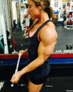 perfect lady with muscular body and muscle arms picture from g+