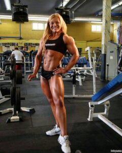 sexy girl with muscular body and toned biceps repost from g+