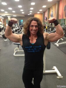 hottest chick with muscle body and muscle arms image from linkedin