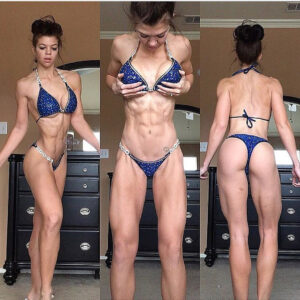 hottest female bodybuilder with fitness body and toned booty pic from reddit