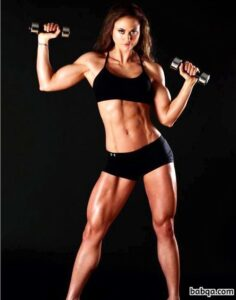 beautiful woman with muscle body and muscle legs pic from reddit