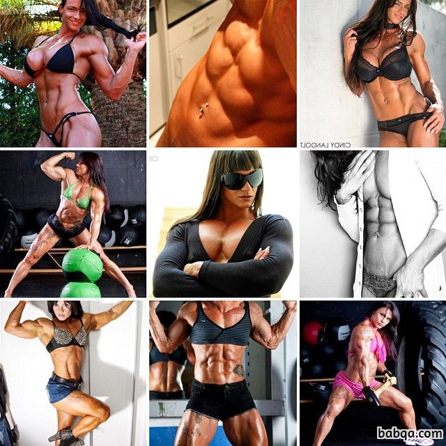 awesome lady with fitness body and muscle arms picture from flickr