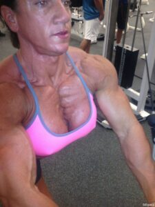 awesome female with muscular body and muscle biceps pic from reddit