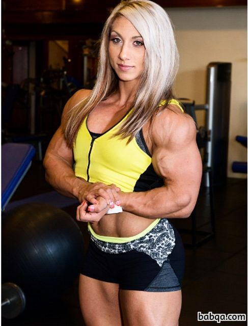 cute lady with muscle body and toned legs post from flickr