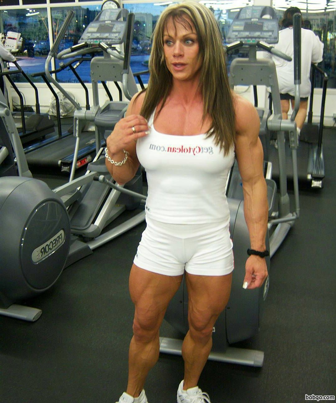 hottest babe with strong body and muscle ass image from facebook