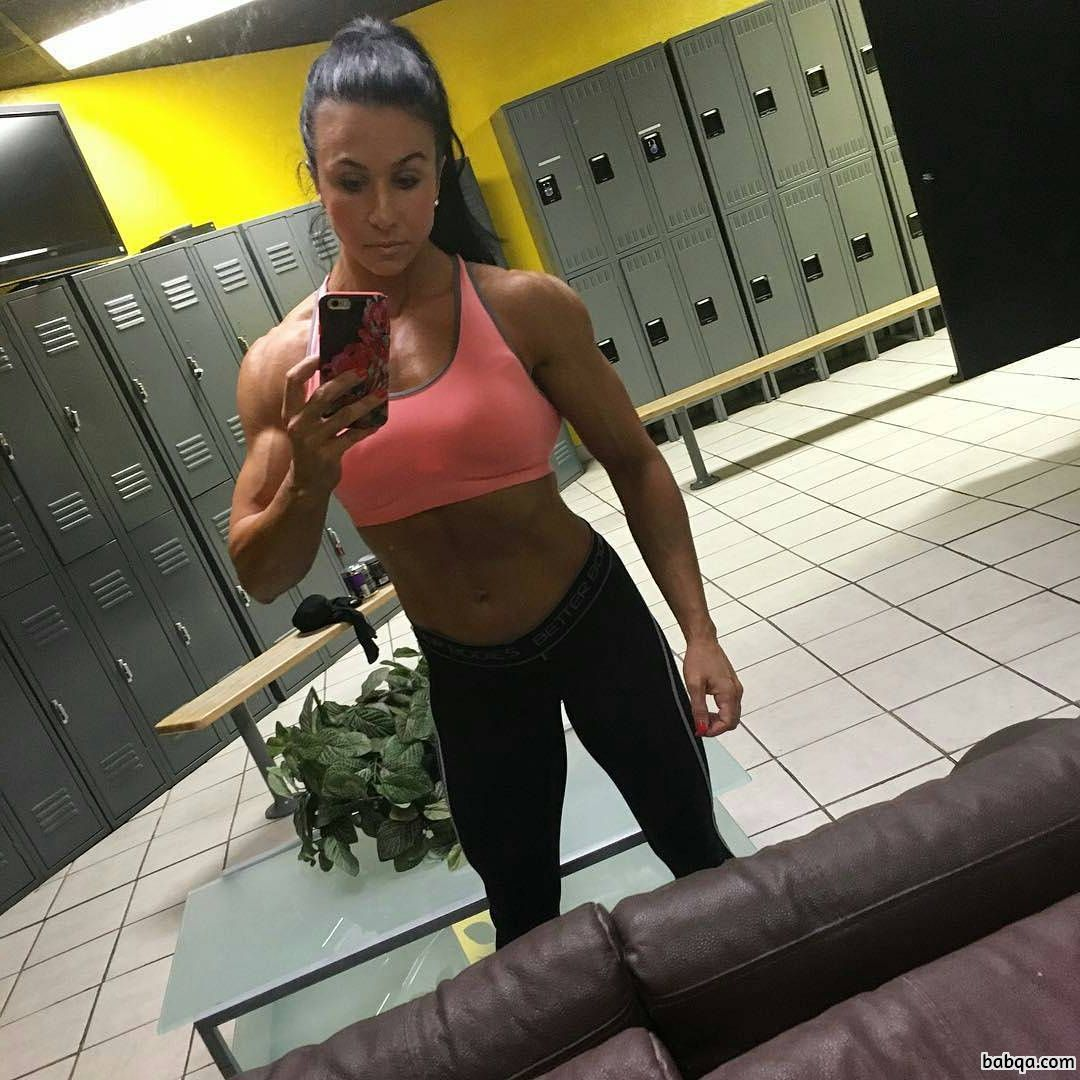 sexy girl with fitness body and toned arms image from flickr
