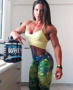 awesome female with fitness body and muscle legs repost from tumblr