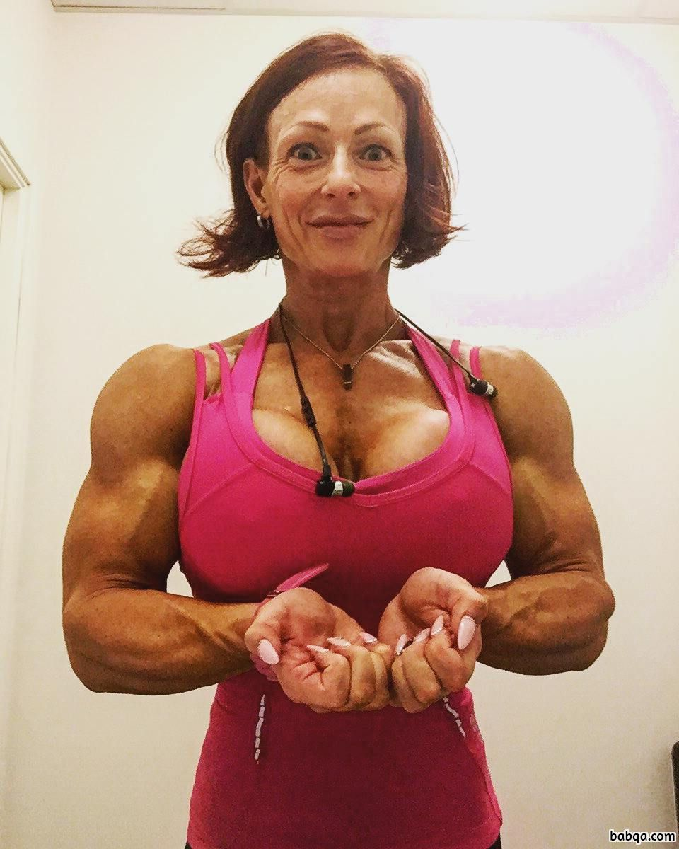 hot chick with muscle body and muscle biceps photo from tumblr