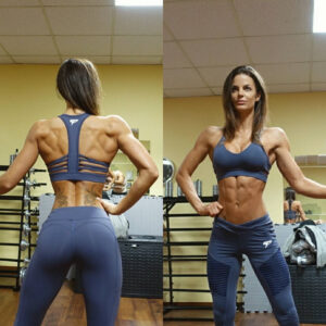 hot chick with muscular body and muscle bottom repost from flickr