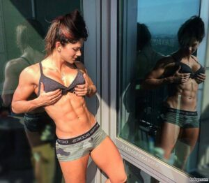 sexy chick with strong body and muscle arms repost from reddit