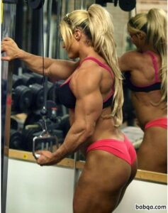 hottest female bodybuilder with strong body and toned legs repost from tumblr