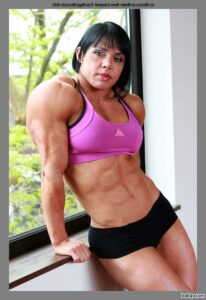 sexy babe with fitness body and muscle biceps image from tumblr