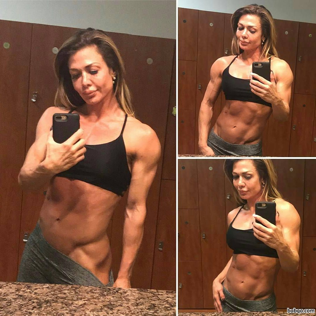 spicy lady with strong body and muscle arms image from tumblr