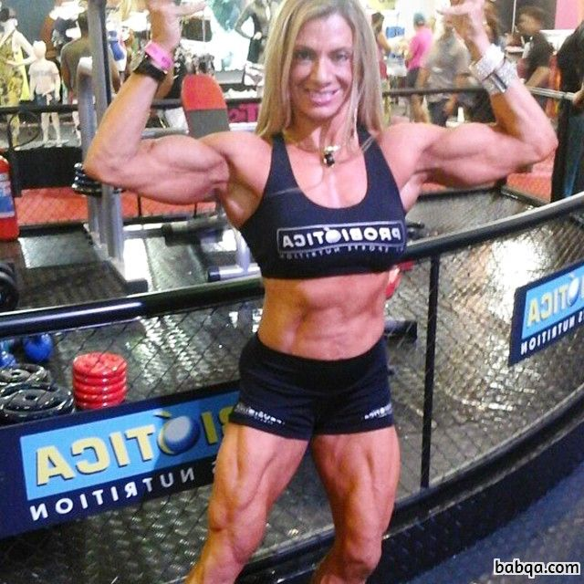 sexy lady with muscle body and muscle biceps post from flickr