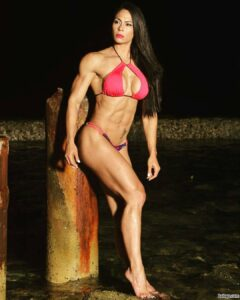 spicy woman with fitness body and muscle bottom image from tumblr