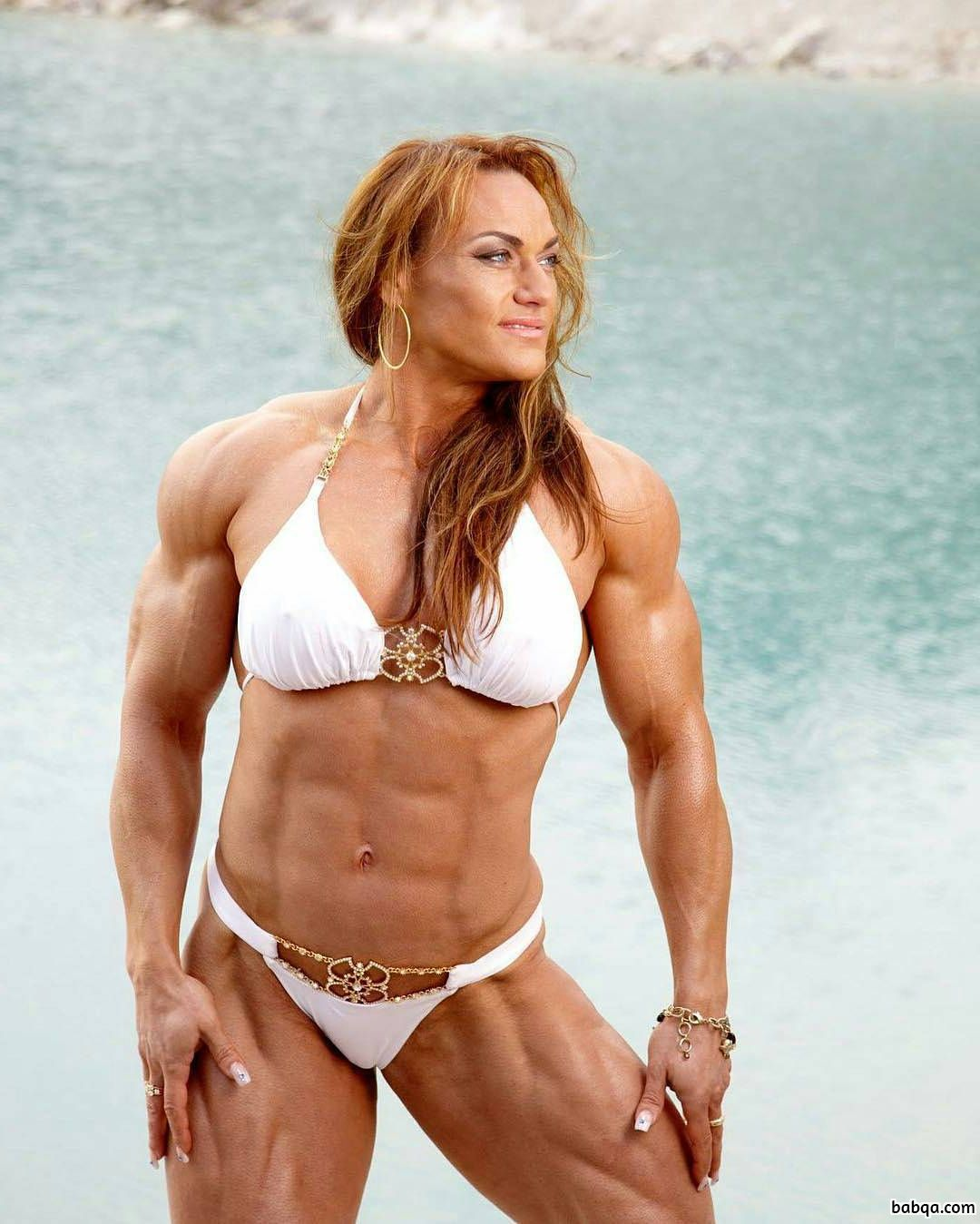 hottest lady with muscular body and toned biceps post from flickr