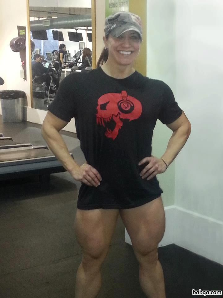 awesome female bodybuilder with muscle body and toned biceps image from linkedin