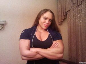 sexy female with muscle body and muscle biceps post from tumblr