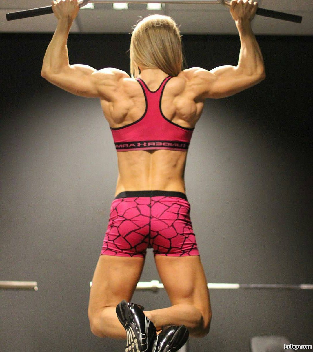 beautiful girl with strong body and muscle legs photo from reddit