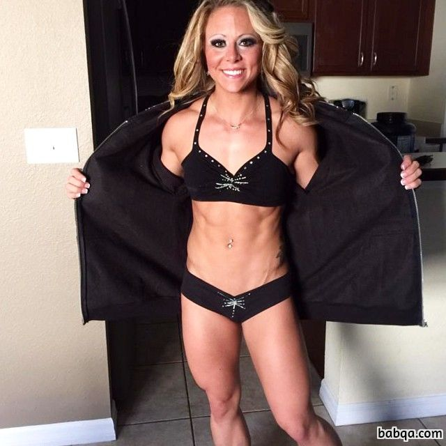 spicy female with fitness body and muscle booty pic from tumblr